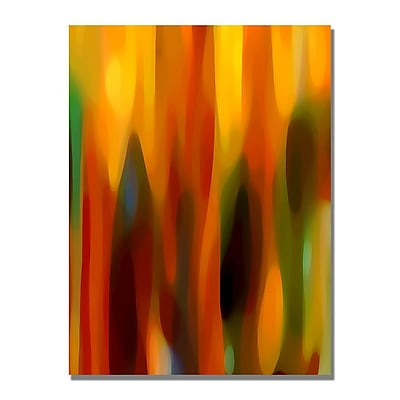 Trademark Fine Art Amy Vangsgard 'Forest Sunlight Vertical' Canvas Art