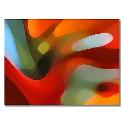 Trademark Fine Art Amy Vangsgard 'Red Tree Light' Canvas Art