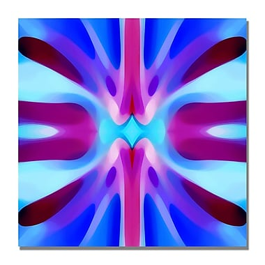 Trademark Fine Art Amy Vangsgard 'Tree Light Symmetry Blue and Purple' Canvas