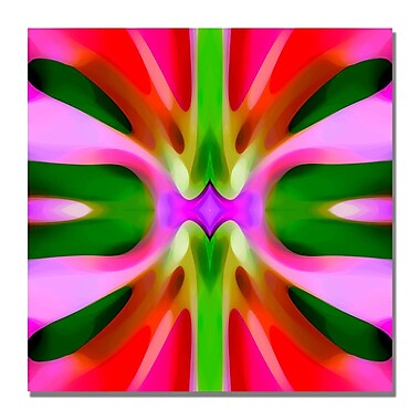 Trademark Fine Art Amy Vangsgard 'Tree Light Symmetry Pink and Green' Canvas