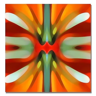 Trademark Fine Art Amy Vangsgard 'Tree Light Symmetry Red' Canvas 18x18 Inches