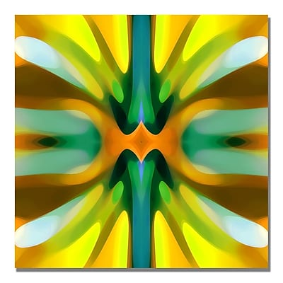 Trademark Fine Art Amy Vangsgard 'Tree Light Symmetry Yellow' Canvas 18x18 Inches
