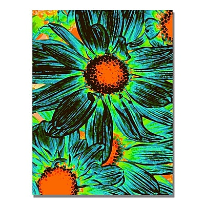 Trademark Fine Art Amy Vangsgard 'Pop Daisies XII' Canvas Art 18x24 Inches