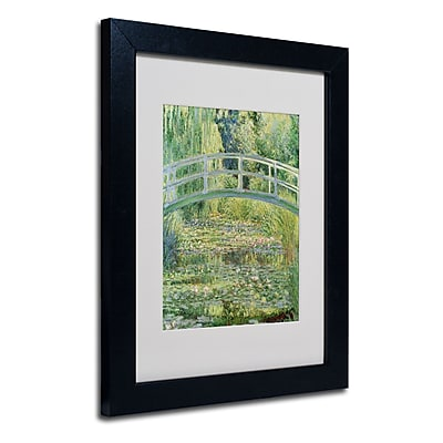 Trademark Fine Art Claude Monet 'The Waterlily Pond-Pink Harmony 1899' Matte Blk Frame 11x14 Inches