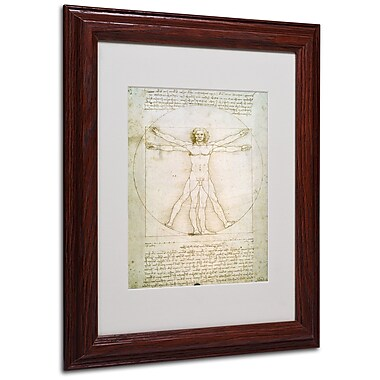 Leonardo da Vinci 'The Proportions of the Human Figure' Matt - 11x14 Inches - Wood Frame