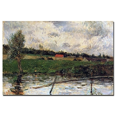 Trademark Fine Art Paul Gaugin 'Brittany Landscape, 1879' Canvas Art 30x47 Inches