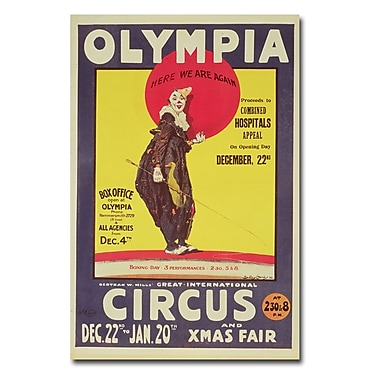 Trademark Fine Art Dudley Hardy 'Bertram Mills Circus 1922' Canvas Art