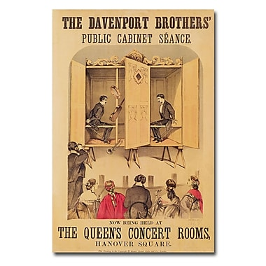 Trademark Fine Art 'The Davenport Brothers 1865' Canvas Art 16x24 Inches
