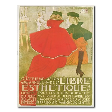 Trademark Fine Art Salon Anuuel de la Libre Esthetique 1897' Canvas Art