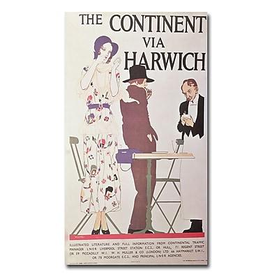 Trademark Fine Art Reginald Higgins 'The Continent via Harwich' Canvas Art 14x24 Inches