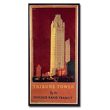 Trademark Fine Art Norman Erikson 'Tribune Tower' Canvas Art 12x24 Inches