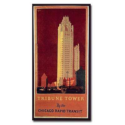 Trademark Fine Art Norman Erikson 'Tribune Tower' Canvas Art 24x47 Inches