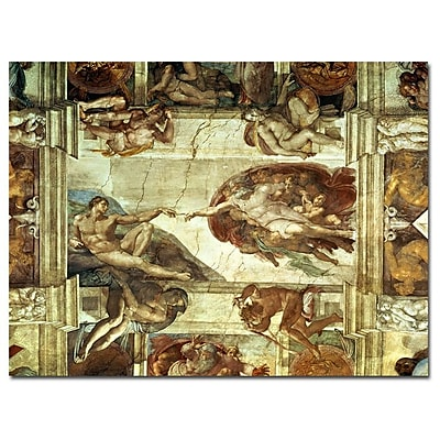 Trademark Fine Art Michelangelo 'The Creation of Adam' Canvas Art Ready to