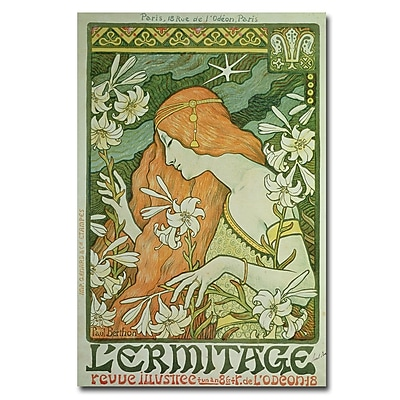Trademark Fine Art Paul Brethon 'L'Emitage 1872' Canvas Art 22x32 Inches