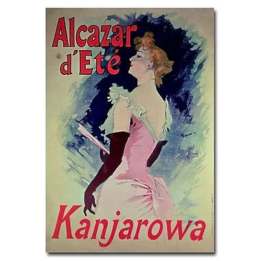 Trademark Fine Art Jules Cheret 'Alcazar d'Ete' Canvas Art 22x32 Inches