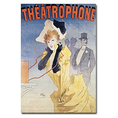 Trademark Fine Art Jules Cheret 'Theatrophone' Canvas Art