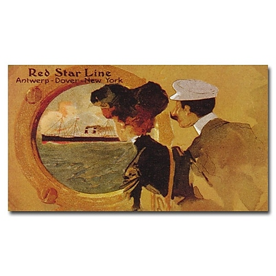 Trademark Fine Art 'Red Star Line' Canvas Art 18x32 Inches