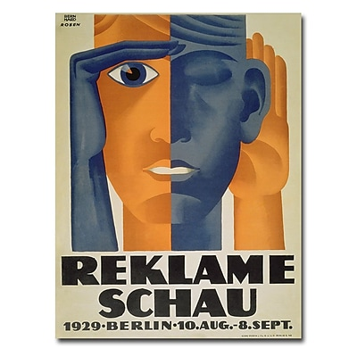 Trademark Fine Art Lucian Bernard 'Reklameschau 1929' Canvas Art