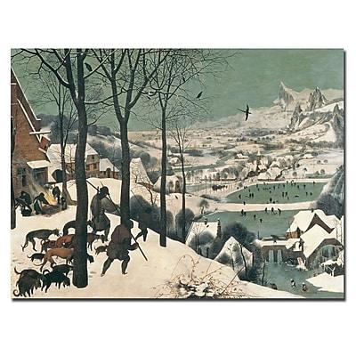 Trademark Fine Art Pieter Bruegel 'Hunters in the Snow-1565' Canvas Art 24x32 Inches