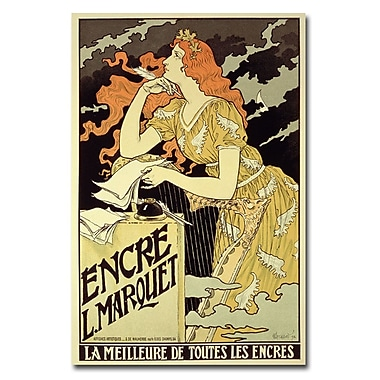 Trademark Fine Art Eugene Grasset 'Marquet Ink 1892' Canvas Art 16x24 Inches