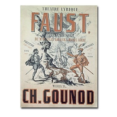 Trademark Fine Art Faust Opera 1875' Canvas Art