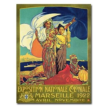Trademark Fine Art David Dellepiane 'Expocision National Coloniale' Canvas Art