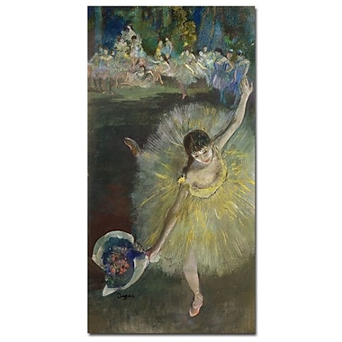 Trademark Fine Art Edgar Degas 'End of an Arabesque-1877' Canvas Art 12x24 Inches