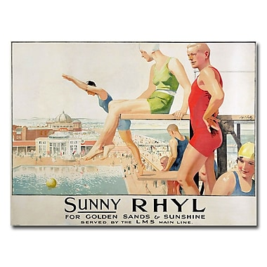 Trademark Fine Art Septimus Scott 'Sunny Rhyl' Canvas Art 18x24 Inches