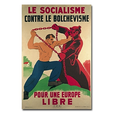Trademark Fine Art 'Socialism Against Bolshevism for a Free Europe' Canvas Art 30x47 Inches