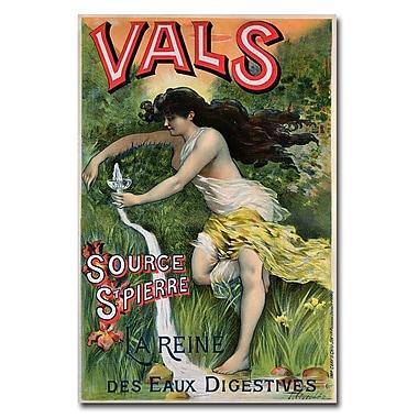 Trademark Fine Art L.Courchez 'Source St.Pierre eue de Vals' Canvas Art