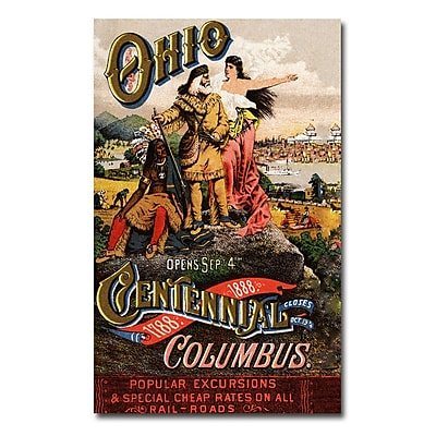 Trademark Fine Art 'Ohio Central Exposition' 1888' Canvas Art 16x24 Inches