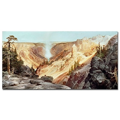 Trademark Fine Art Thomas Moran 'The Grand Canyon of Yellowstone 1872' Art 10x19 Inches