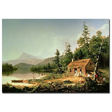 Trademark Fine Art Thomas Cole 'Home in the Woods 1847' Canvas Art