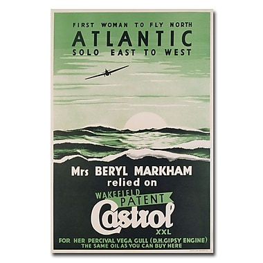 Trademark Fine Art Castrol Oil 1938' Canvas Art