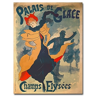 Trademark Fine Art Jules Cheret 'Palais de Glace dans Camps Elysees' Canvas Art