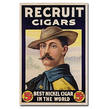 Trademark Fine Art Recruit Cigars 1899' Canvas Art 30x47 Inches