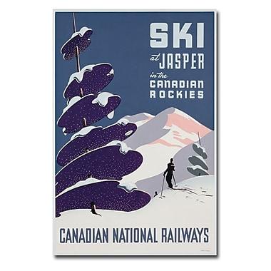 Trademark Fine Art 'Canadian Ski Resort jasper' Canvas Art