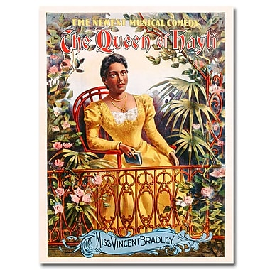 Trademark Fine Art The Queen of Hayti 1895' Canvas Art