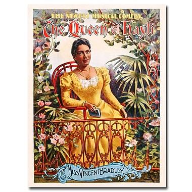 Trademark Fine Art The Queen of Hayti 1895' Canvas Art 35x47 Inches