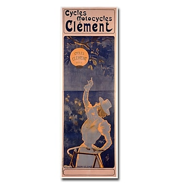 Trademark Fine Art Ferdinand Misiti 'Cycles Clement 1895' Canvas Art 12x32 Inches