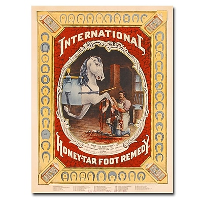 Trademark Fine Art Honey Tar Foot Remedy for Horses 1890' Canvas Art 35x47 Inches