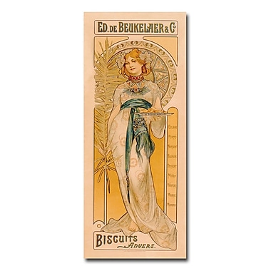 Trademark Fine Art Ed. de Beukelaer & co 'Biscuits anvers 1899' Canvas Art 10x24 Inches