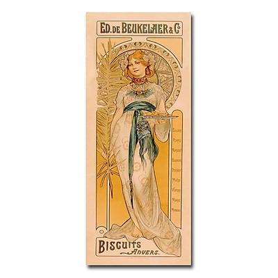 Trademark Fine Art Ed. de Beukelaer & co 'Biscuits anvers 1899' Canvas Art 10x24 Inches