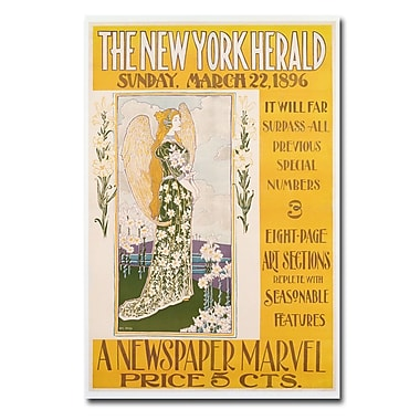 Trademark Fine Art Lois Rhead 'The New York Herald 1896' Canvas 16x24 Inches