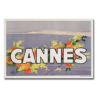 Trademark Fine Art Georges Goursat 'Cannes 1930s' Canvas Art