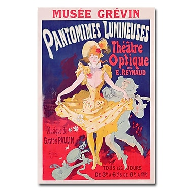 Trademark Fine Art Jules Cheret 'Pantomimes Lumineuses 1892' Canvas Art