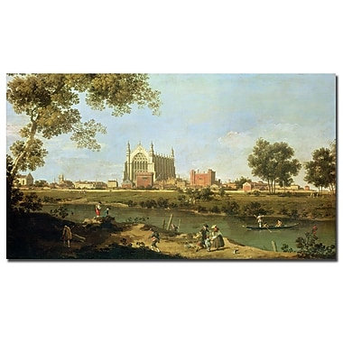 Trademark Fine Art Canaletto 'Eton College, c.1754' Canvas Art