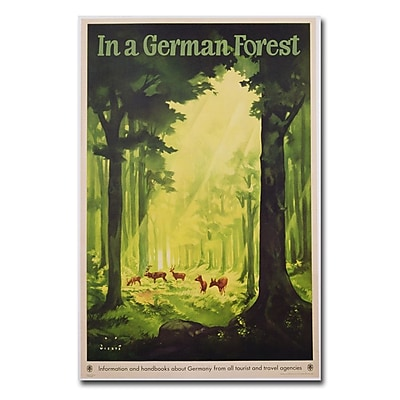 Trademark Fine Art Jupp Wiertz 'In a German Forest 1935' Canvas Art