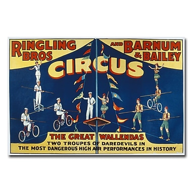Trademark Fine Art 'Ringling Brothers and Barnam & Bailey Circus' Canvas Art 16x24 Inches