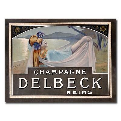 Trademark Fine Art Louis Chalon 'Champagne Delbeck 1910' Canvas Art